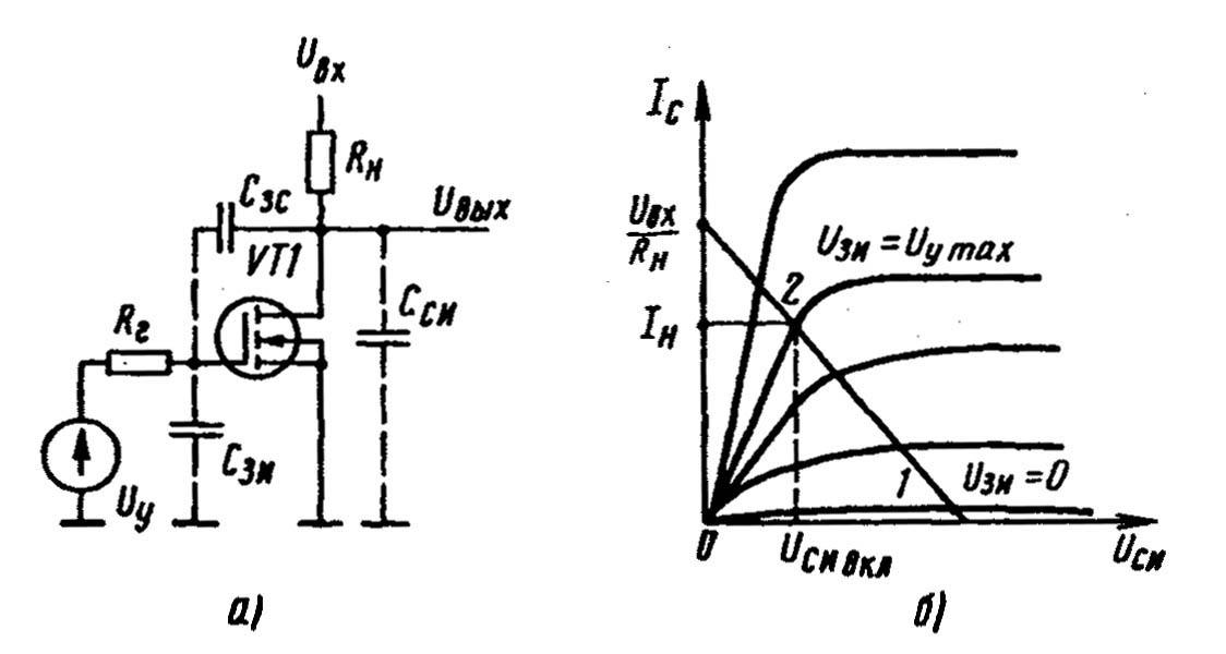 Ключ на МДП транзисторе с