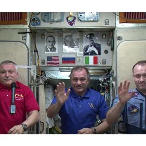 Поздравление с Днём знаний с борта МКС