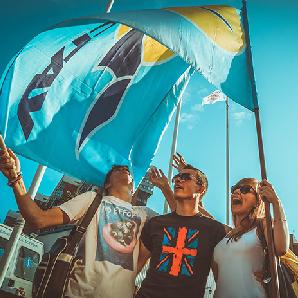 Студенты СГАУ участвовали в празднике государственного флага