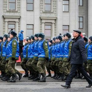 Студенты и сотрудники приняли участие в Параде Памяти