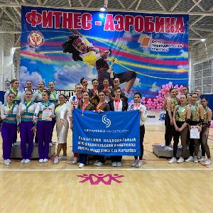 Сборные команды по фитнес-аэробике Самарского университета - чемпионы ПФО