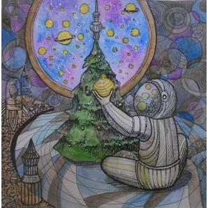 Онлайн-конкурс планетария «Космический Новый год» собрал почти тысячу творческих работ со всей России