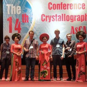 Сотрудники кафедры неорганической химии приняли участие в конференции азиатского кристаллографического общества
