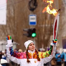 Студентка СГАУ несла факел Олимпиады