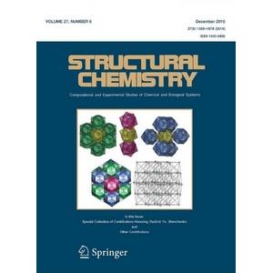 Профессор Владислав Блатов стал приглашенным редактором Structural Chemistry
