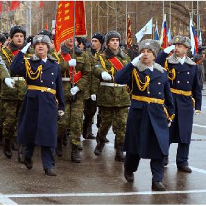 Курсанты военной кафедры начали подготовку к Параду Памяти
