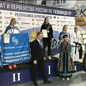 Студентка завоевала серебро на чемпионате России по тхэквондо