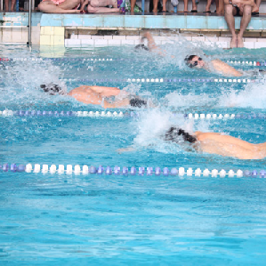Прошли городские соревнования по плаванию