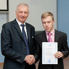 Стипендиаты учёного совета получили сертификаты